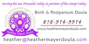 Heather Mayer Doula car magnet design.